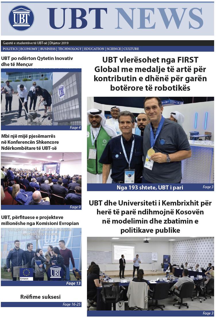 UBT-News Dhjetor 2019