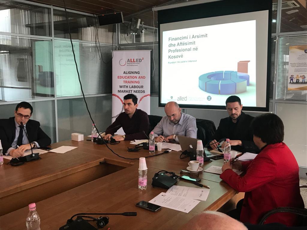 """Mbahet punëtoria """"Financimi në Arsimin dhe Aftësimin profesional në Kosovë"""""""