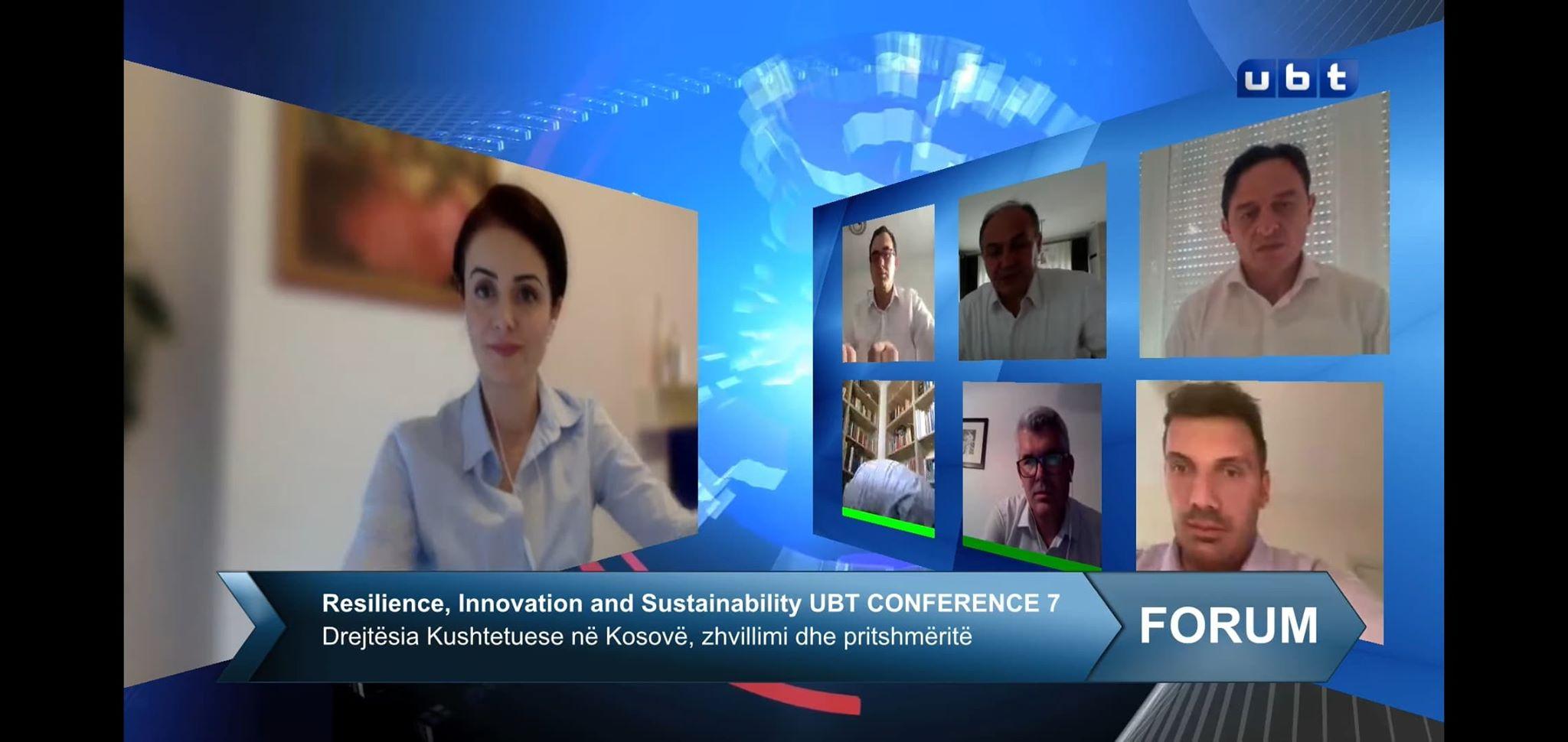 UBT mbajti konferencën online kushtuar 12-vjetorit të hyrjes në fuqi të Kushtetutës së Kosovës