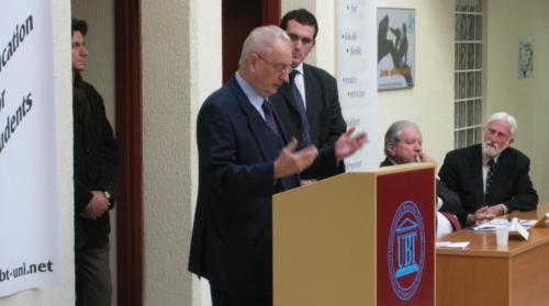 UBT hap programin e pare ne Kosove per marredhenie nderkombetare dhe diplomaci,peruron ish minstri i jashtem i Austrise Dr.Erwin Lanc